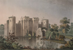 North-east view of Bodium Castle, Sussex